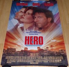 HERO 1992 ORIGINAL ROLLED DS 1 SHEET MOVIE POSTER DUSTIN HOFFMAN GEENA DAVIS