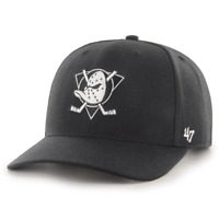 Anaheim Mighty Ducks '47 NHL Black & White Audible DP Pre-Curved Snapback Hat