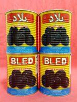 4 Dosen Oliven Schwarz mit Stein Marokko Feinkost - 4 x 850 g - vegetarisch