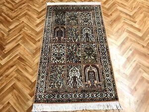 Orientteppich Teppich  Seidenteppich Felderteppich 136x77 Neuwertig Luxus Pur