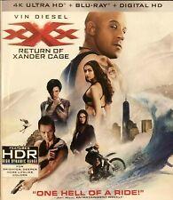 Vin Diesel Xxx Return Of Xander Cage 4K + Blu Ray + Digital Hd Action Like New