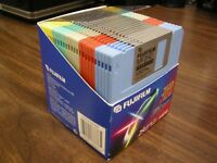 Fujifilm 3.5 2HD High Density Color Disks 1.44MB IBM Formatted Diskettes 25 NEW