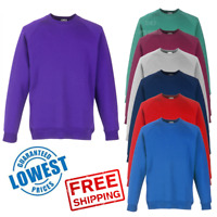 Fruit Of The Loom CHILDREN'S SCHOOL SWEATSHIRT BOYS GIRLS JUMPER PLAIN CLASSIC