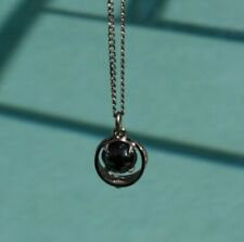 Black Stone Vintage Necklace With