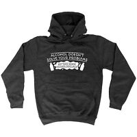 Alcohol Doesn't Solve Your Problems Neither Does Milk HOODIE hoody birthday gift