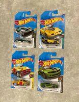 Hot Wheels Dodge Charger Daytona Camaro Cyber Custom '56 Treasure Hunt LOT OF 4