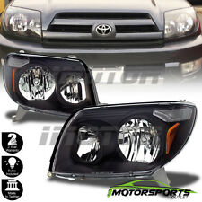 2003 2004 2005 Toyota 4Runner Black Factory OE Style Headlights Pair