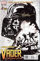 STAR WARS: VADER DOWN #1 B&W Signed Mike Mayhew Variant Cover and COA