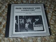 FRANK SPRINGBACK JAMES / 1934-1937 COMPLETE works ~ Import Album George Curry cd