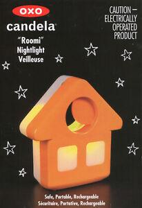OXO TOT CANDELA ROOMI Room Nightlight In Orange Night Light NEW in Retail Box