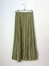 SILK VINTAGE MAXI CRINKLE SKIRT / ONE SIZE / CIRCA 1990'S