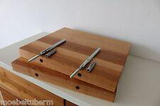 2x Wandboard Erle Massiv Holz Board Regal Steckboard Regalbrett Baumkante ! NEU