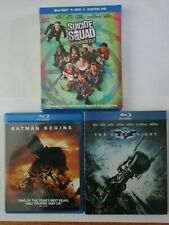 Batman Begins, Dark Knight, Suicide Squad Dc Comics Movies - Used Blu Ray Discs