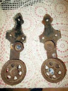 ANTIQUE BARN DOOR Hardware PULLEYS TROLLEY LATE 1800'S CAST IRON WORKING