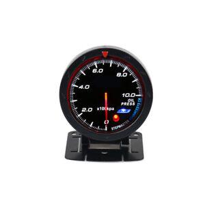 12V 2.5''Car Modified 60MM 0-1000kpa Oil Pressure Meter Gauge W/Support Set