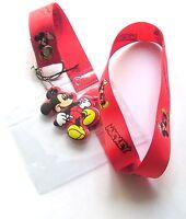 * Disney Lanyard 'Mickey Mouse' Lanyard With Charm * Pass holder * UK