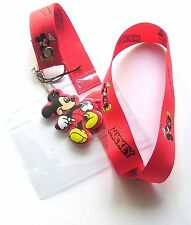 * Disney Lanyard 'Mickey Mouse' Lanyard With Charm * Pass holder * UK