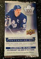 2016-2017 Upper Deck Toronto Maple Leafs Centennial Hockey Cards One Pack