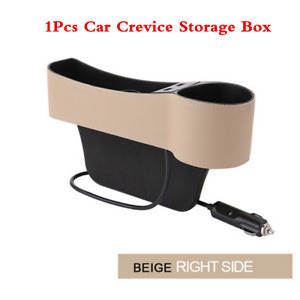 Passenger Side Car Seat Gap USB Storage Box Crevice Organizer Box Cup Holder x1