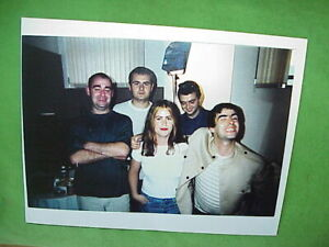 """1994 OASIS Candid not posed original photo Interview for first album 9""""x11"""" Liam"""