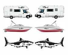Pair Shark Decals / Stickers for Van / Motorhome / Camper / Boat etc 600mm Long
