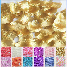 TTS 500pcs Silk Rose Petals Confetti Wedding Flowers Party Decoration Gold