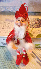 Red Elf Charming Whimsical New Sprite Gnome Pixie Fairytale Lovely Detail
