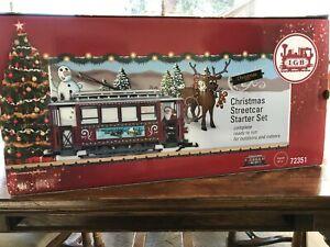 "New LGB Christmas Streetcar Starter Set 72351 G Scale 47-1/4"" Circle"