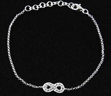Armband  925 Sterling Silber Unendlichkeit Infinity Freundschaft