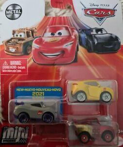 Cars Mini Racers Rusteze Racing Center Series 3 Pack, Kurt, Cruz ramie & mcqueen