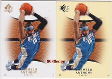 (2) 2007-08 SP AUTHENTIC HOBBY + RETAIL: CARMELO ANTHONY #67 NUGGETS PREMIUM LOT