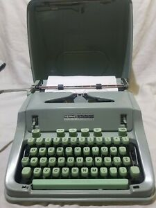 Vintage HERMES 3000 Portable Typewriter 1966 with Case MCM