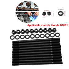 Auto cylinder head studs fit for Honda B18C1 cylinder screw sets iron Durable