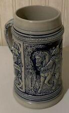 Vintage Thewalt 1894 Original Mold Year Cobalt Salt Glazed German Beer Stein