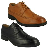A2133 MAVERICK MENS BROGUE STITCHING DETAILS LACE UP ROUND TOE FORMAL SHOES SIZE