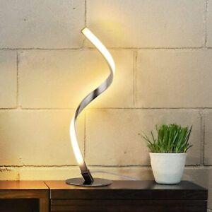 Albrillo, Spiral Design LED Table Lamp, Silver