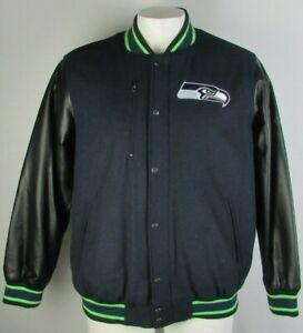 Seattle Seahawks NFL G-III Men's Snap Up Wool Blend Jacket