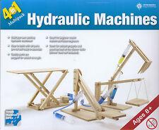 Build 4 Wooden Hydraulic Machines: Scissor Lift, Platform Lifter, Cherry Picker