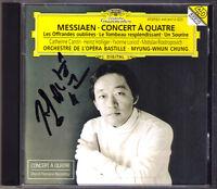 Myung-Whun CHUNG Signiert MESSIAEN Concert a quatre HOLLIGER ROSTROPOVICH DG CD