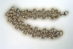 Chain Maille 14 kt Gold Filled and SS Designer Bracelet