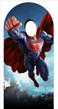 Superman LIFESIZE CARDBOARD STAND-IN CUTOUT standee Standup - BECOME SUPERMAN!!