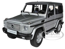 1998 MERCEDES G500 G CLASS SWB SILVER 1/18 DIECAST CAR MODEL BY AUTOART 76112
