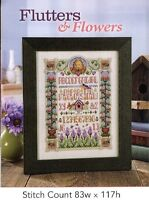 FLUTTERS & FLOWERS  -  CROSS STITCH PATTERN ONLY  GU - AEP