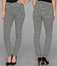 Karen Kane Black/White Maze Print Skinny Jean, 12R - MSRP $109