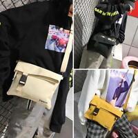 Women Men Canvas Messenger Shoulder Phone Bag Casual Small Crossbody Satchel Bag