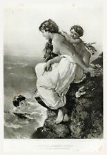 "C.1884 GERMAN Photogravure 16""x11"" A Venetian Swimming Pool - Wilhelm Kray Nude"