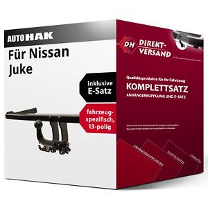 Anhängerkupplung abnehmbar + E-Satz 13pol spezifisch für Nissan Juke 14-19 neu