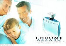 PUBLICITE ADVERTISING 086  1998  Azzaro eau de toilette homme (2p) Chrome