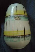 1950's Vintage BAY KERAMIK Vase 582/17 West German Pottery Fat Lava Era Retro