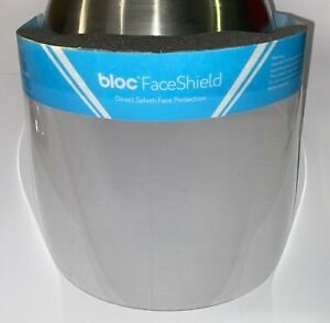 24 x Bloc Reusable FaceShields Full Face Visor Mask PPE Clear Plastic